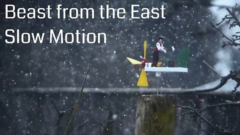 Stunning 'Beast from the East' slow motion storm footage