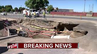 BREAKING: Sinkhole closes Coffee Road - Video