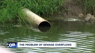The problem of sewage overflows with heavy rain - Video