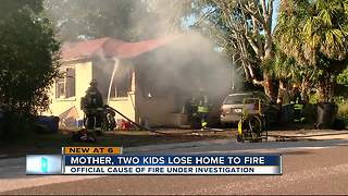 Home destroyed in fire - Video