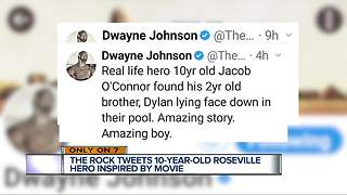 The Rock responds to 7 Action News story about boy saving his brother - Video