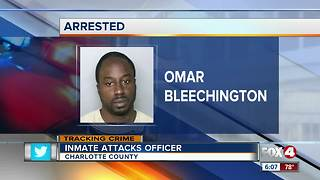 Inmate arrested for assaulting a Charlotte Correctional officer - Video