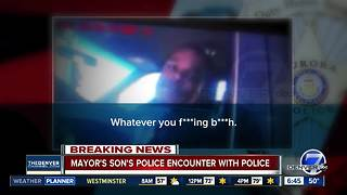 'My dad's the mayor!' Video shows Denver mayor's son using slur against officer during traffic stop - Video
