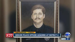 Denver Police officer honored at District 4 - Video