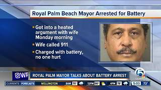 Royal Palm Beach mayor arrested, charged with battery - Video