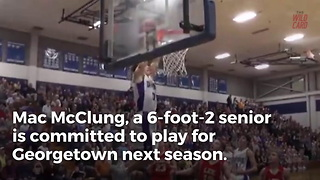 High School Senior Throws Down Epic Windmill Dunk - Video