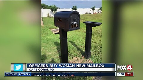 Officers replace damaged mailbox in Cape Coral