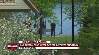 Man dead after officer involved shooting - Video