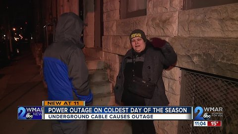 Power knocked out for hours on coldest night of season