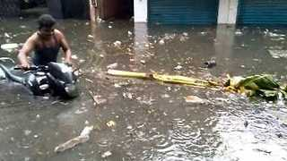 Houses in Central Chennai Inundated with Filthy Floodwater - Video