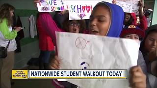 Tampa Bay area students to take part in national walkout remembering Parkland shooting victims - Video