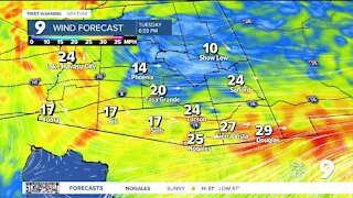 It will be a breezy and cooler week