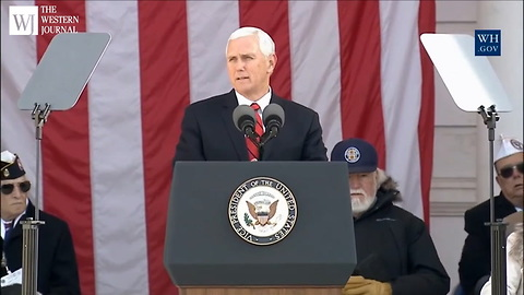 Vice President Mike Pence Honors the Fallen on Veterans Day with More than Words
