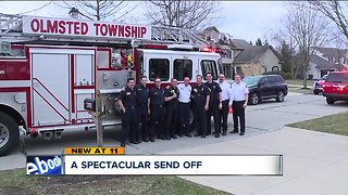 Olmsted Township firefighter given incredible send-off after 35 years of service