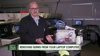 Removing germs from your laptop computer - Video