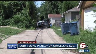 Person found dead in alley on Indy's north side, death investigation underway - Video