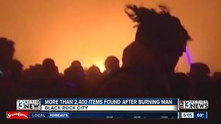 Over 2,400 items found after Burning Man festival - Video