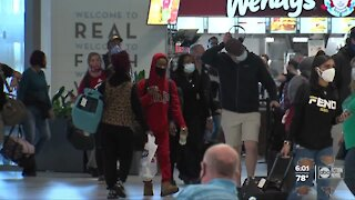 Crowds were light making their way through TPA after the holidays