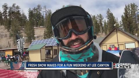 Locals, tourists flock to Lee Canyon