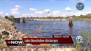 Some people are concerned about fresh water releases continuing from Lake Okeechobee - Video