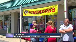 Warren man injured in fireworks and alcohol accident - Video