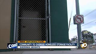 Community to oversee homeless storage facility - Video