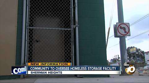 Community to oversee homeless storage facility