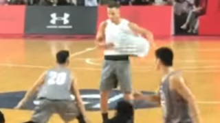 Steph Curry FAKES OUT Chinese Players with AND1 Style Streetball Moves - Video