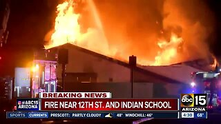 Large fire breaks out near 12th Street and Indian School Road