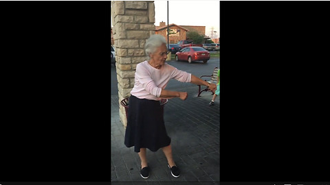 Granny Nails The Floss Dance On First Attempt