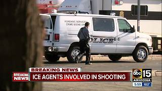 ICE agents involved in shooting, one person killed