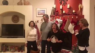 Grandmother-to-be delighted at surprise pregnancy announcement - Video