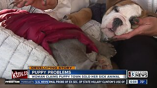 Dog owner raises concerns over sick puppy from local pet store