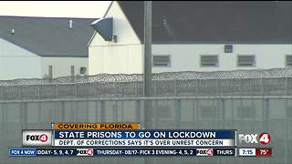 Florida prisons to go on lockdown - Video