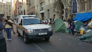 SOUTH AFRICA - Cape Town - Refugees removed from outside Central Methodist Mission (Video) (MD5)