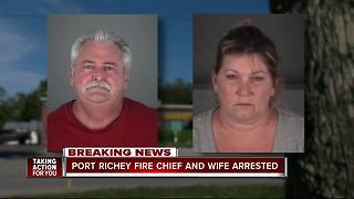 Port Richey fire chief, wife arrested after motorcycle crash & altercation