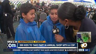 300 kids take part in annual 'Shop with a Cop'