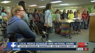 Local student awarded prestigious National Award - Video