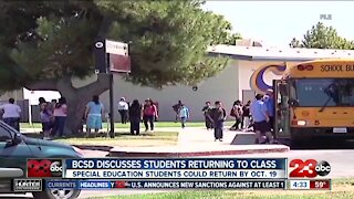 BCSD discusses students returning to class
