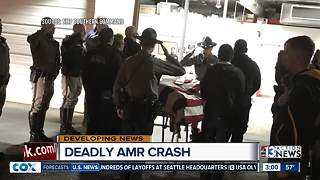 Press conference about deadly AMR crash - Video