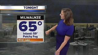 Cooler with patchy fog tonight