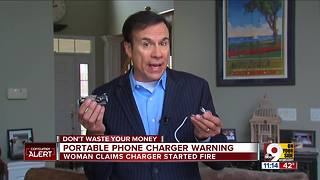 Cheap phone chargers may be sparking fires - Video