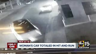 Phoenix woman wants answers after car totaled in hit-and-run - Video