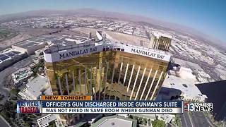 Police officer fires gun in Mandalay Bay suite - Video