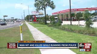 Man hit and killed while running from police