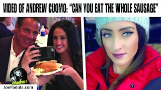 New York Governor Andrew Cuomo Video asking Reporter If She Could Eat the Whole Sausage