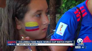 Colombia fans pack World Cup Watch Party - Video