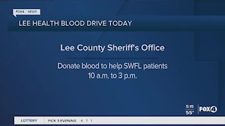 Lee Health blood drive at Lee County Sheriffs Office