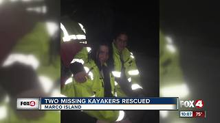 Two Missing Kayakers Rescued - Video