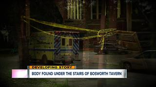 Body found under stairs next to Bosworth Tavern - Video